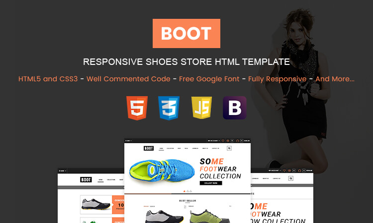 Boot Responsive Bootstrap Shoes Store HTML Template