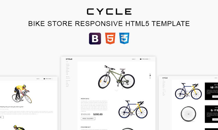 Cycle - Bike Store Responsive HTML5 Business Template | ThemeTidy