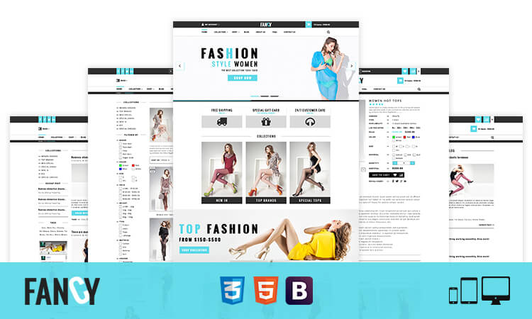 Fancy - Elegant Fashion Bootstrap eCommerce HTML Template | ThemeTidy