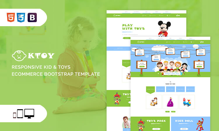 ktoy responsive kid toys ecommerce bootstrap template themetidy. Black Bedroom Furniture Sets. Home Design Ideas