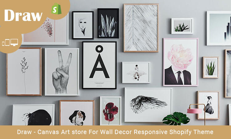 Wall Decor Stores Draw  Canvas Art Store For Wall Decor Responsive Shopify Theme