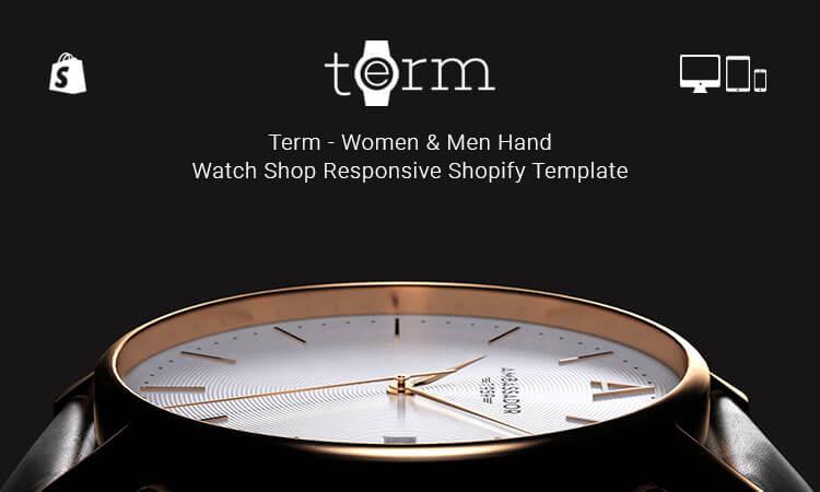 Term - Women & Men Hand Watch Shop Responsive Shopify Template ...