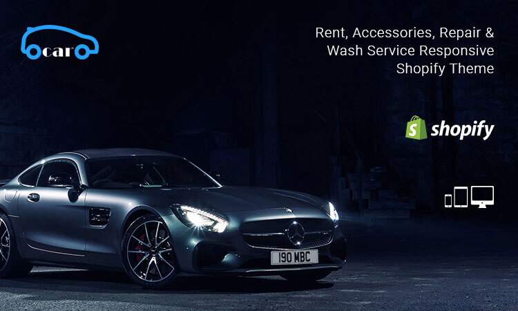 Cars Rent Accessories Repair Wash Service Responsive Shopify