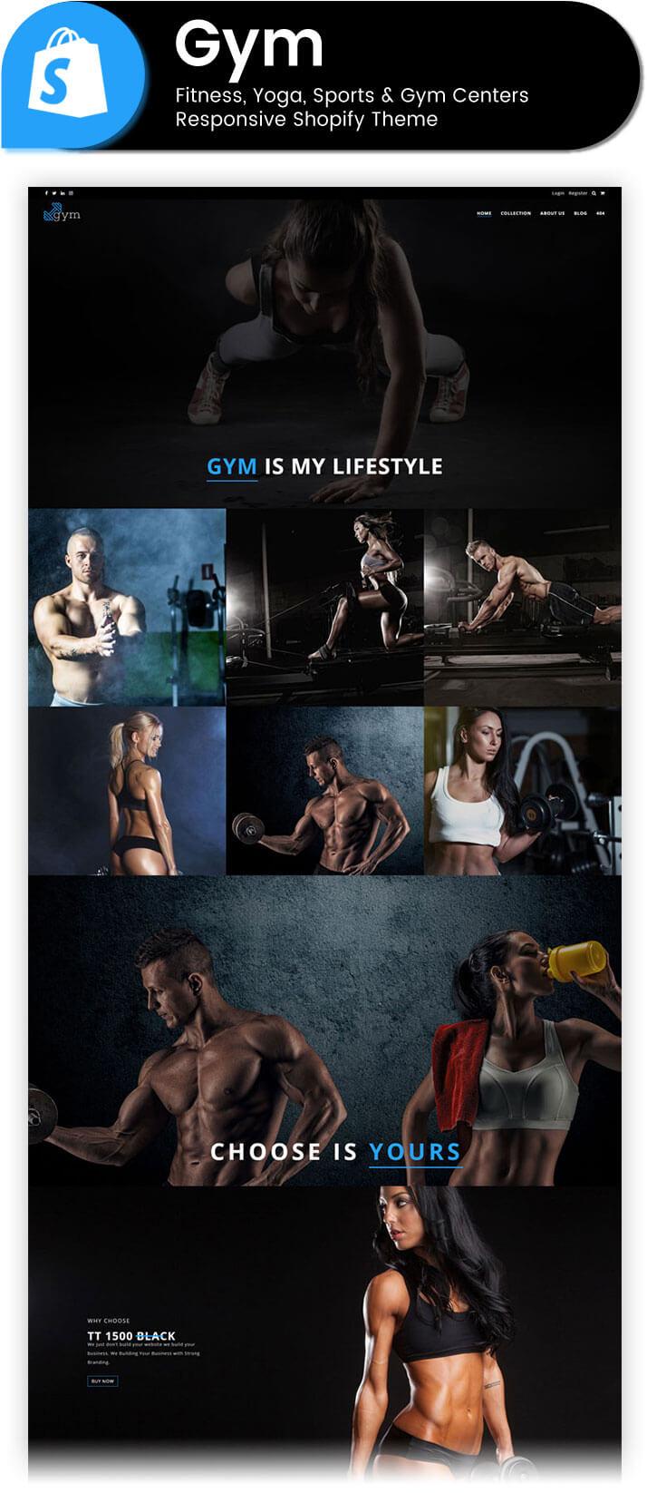 Gym fitness yoga sports gym centers responsive for Gimnasio sport gym