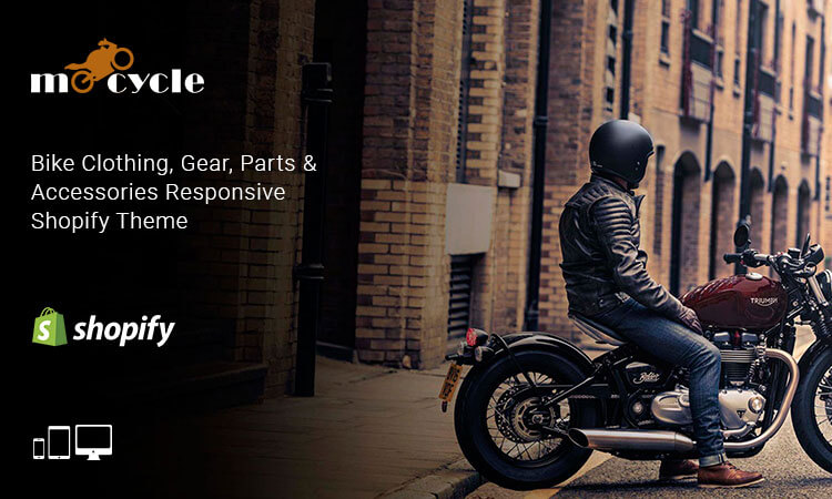 Motorcycle - Bike Clothing, Gear, Parts and Accessories Responsive Shopify  Theme | ThemeTidy