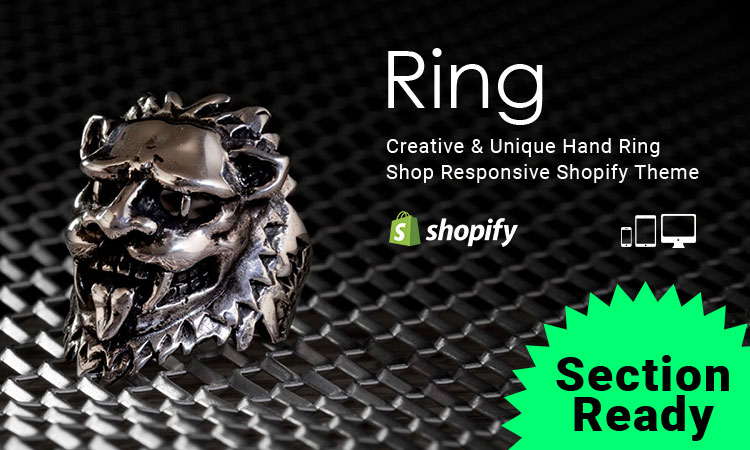 Ring – Creative & Unique Hand Ring Responsive Shopify Theme (Sections Ready)