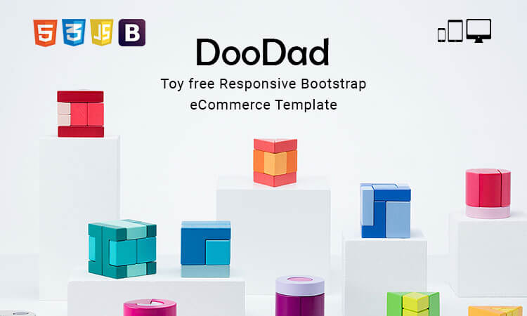 Doodad Toy Free Responsive Bootstrap Ecommerce Template Themetidy