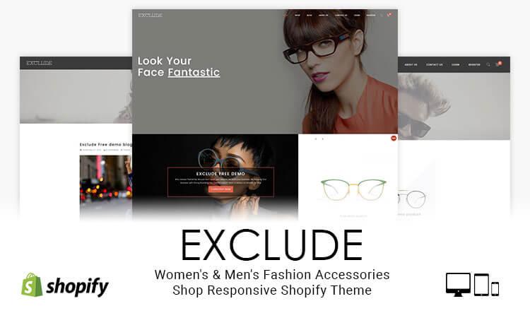59dbb70b716 Exclude - Women s   Men s Fashion Accessories Shop Responsive Shopify Theme