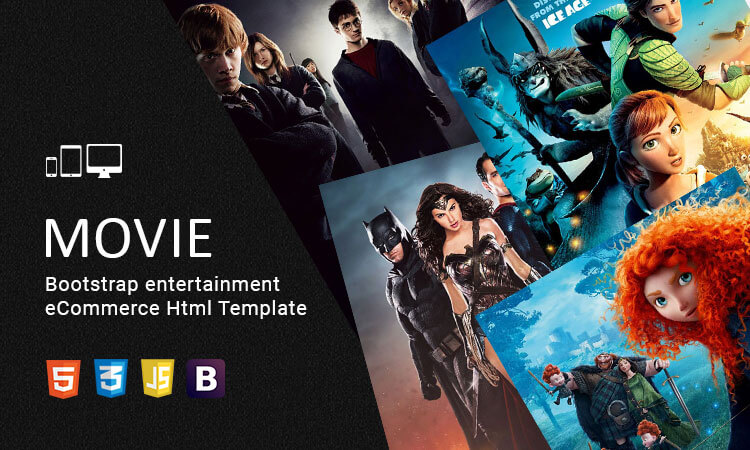 Movie - Bootstrap entertainment eCommerce Html Template | ThemeTidy