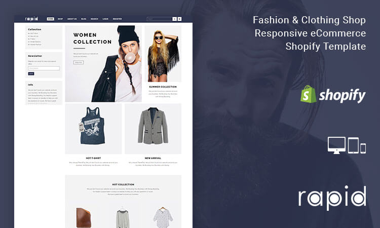 Rapid fashion clothing shop responsive ecommerce shopify rapid fashion clothing shop responsive ecommerce shopify template themetidy pronofoot35fo Image collections