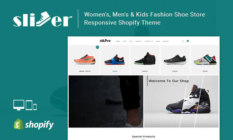 Slipper – Women's, Men's & Kids Fashion Shoe Store Responsive Shopify Theme