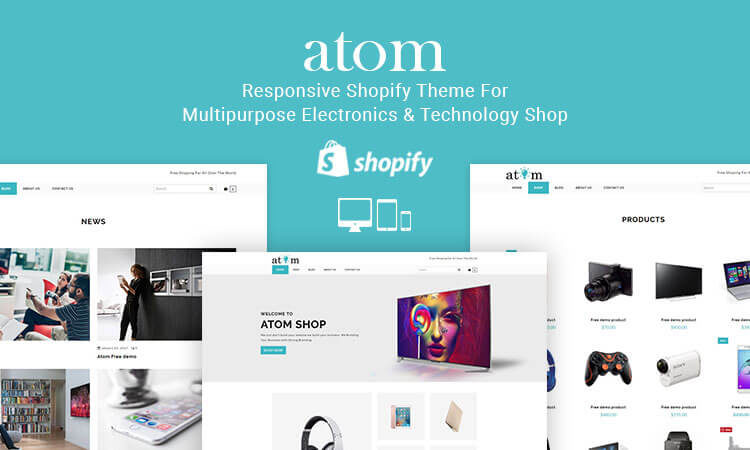 Atom responsive shopify theme for multipurpose electronics live demo pronofoot35fo Image collections