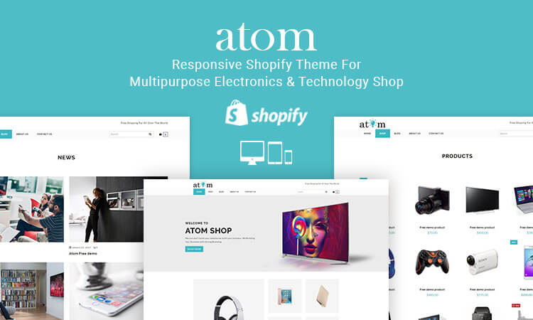 atom responsive shopify theme for multipurpose electronics technology shop themetidy