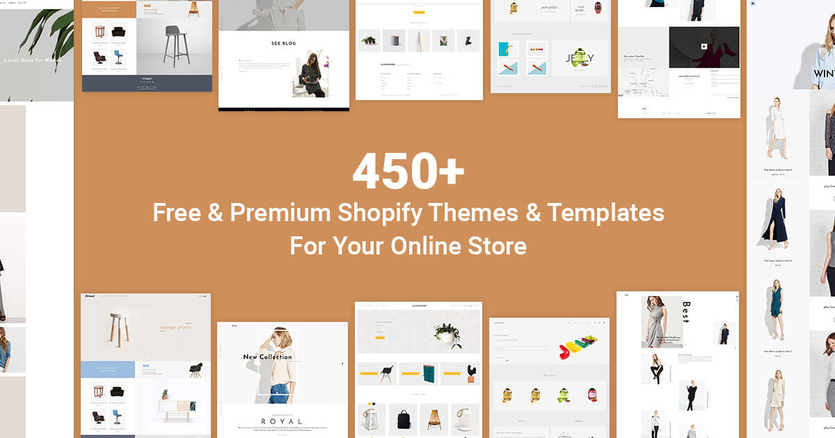 Start online business with 450 premium shopify themes for Free shopify templates