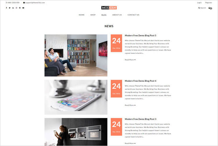 using shopify ecommerce blog page layout in your themes templates themetidy. Black Bedroom Furniture Sets. Home Design Ideas