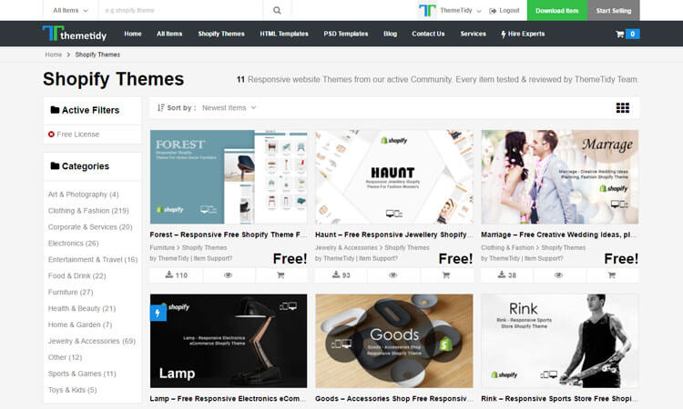 download shopify free themes templates for your ecommerce website blog image 2 themetidy themetidy. Black Bedroom Furniture Sets. Home Design Ideas
