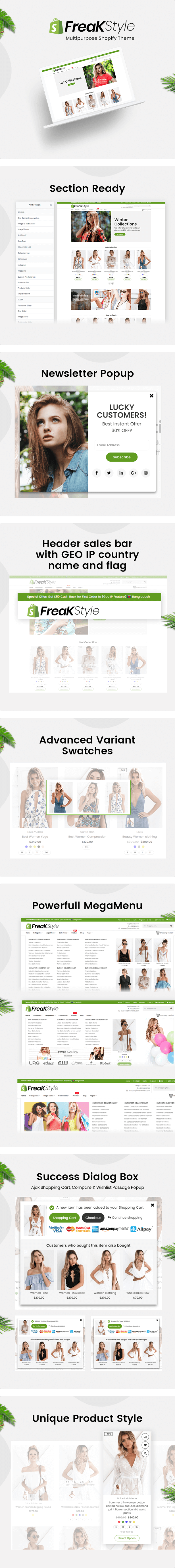 Freak - Fashion Shopify Theme Template Responsive Multipurpose Ecommerce