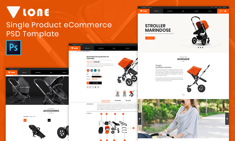 59413554d5fa9 Lone – Single Product eCommerce PSD Template