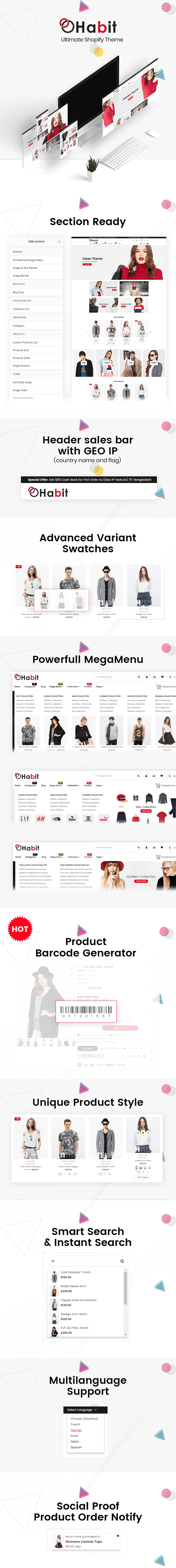 Habit - Fashion Shopify Theme Multipurpose Responsive Template
