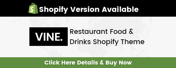 Vine Shopify Theme Version Available
