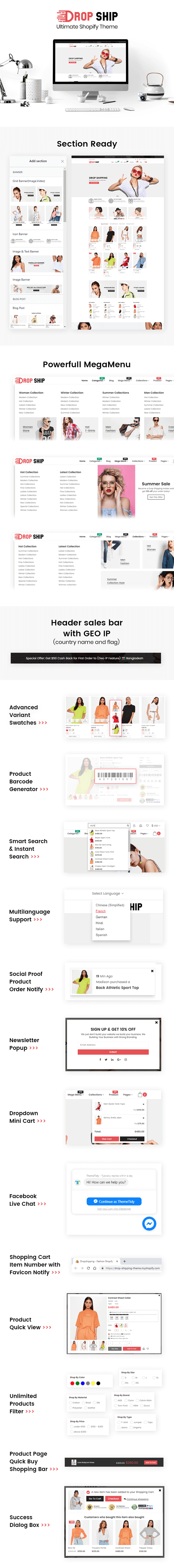 Dropshipping - Fashion Shopify Theme Multipurpose Responsive Template