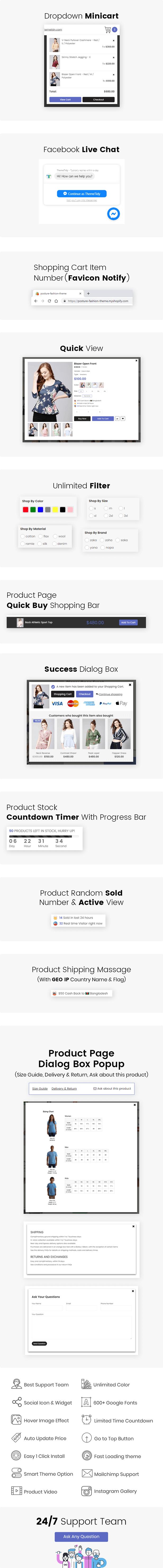 Posture - Multipurpose Responsive Shopify Theme
