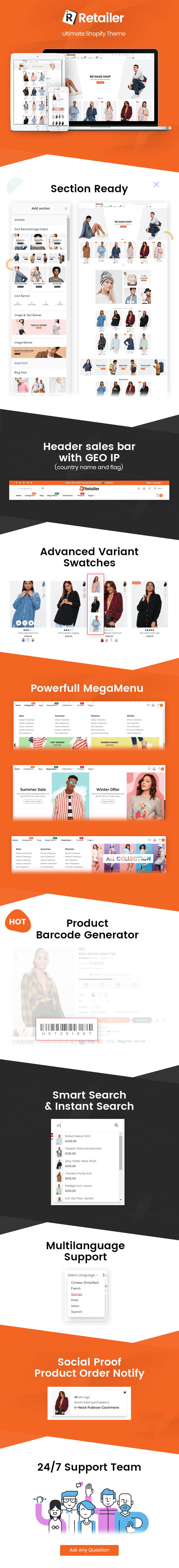 Retailer - Multipurpose Shopify Theme